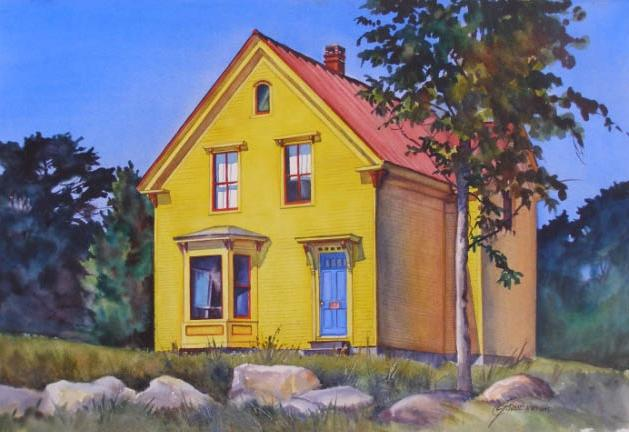 Yellow House by Carolyn Grosse' Gawarecki